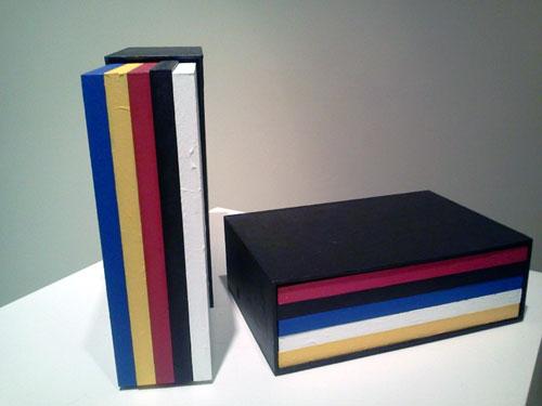 HORACIO ZABALA, Las obras completas de Mondrian (III). Acrílico sobre madera, cartón entelado. Medidas variables. 2006