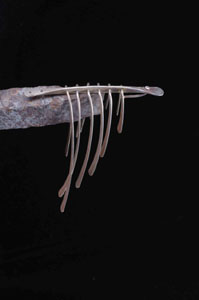"Bertoia Jewlery, silver brooch - ""fishbone"" style courtesy HarryBertoia Foundation"