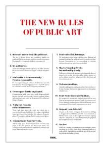 Sculpture Public Art Rules