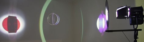 Olafur Eliasson looks into optics by revealing the trick and displays the devices that generate a light-related effect