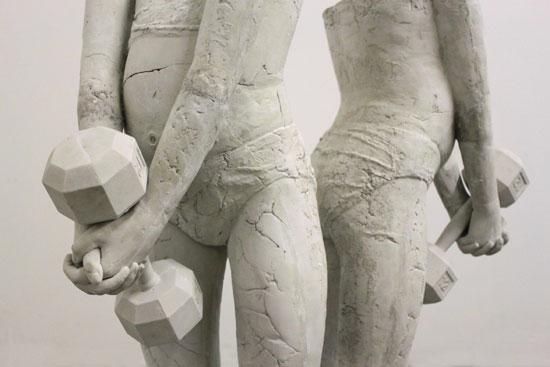 Untitled Duality (Ode to Muñoz), 2016. detail. 36x34x27, cement