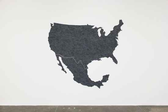 Tapestry of Relations, 2017, 72x70 inches, felt and thread